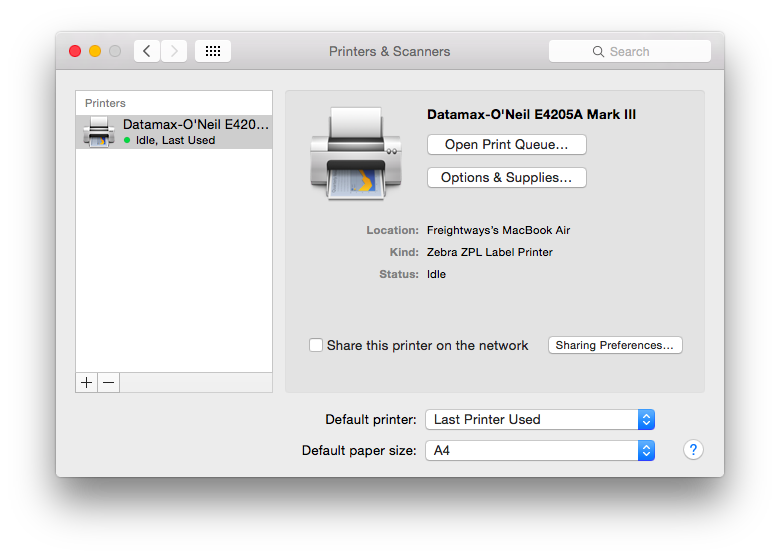 Thermal Printer Setup - Mac OS X - Pass the Parcel